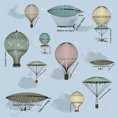 vintage hot air balloon basket - Google Search