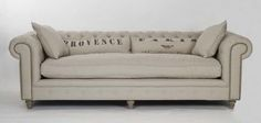 chesterfield sofa in linen
