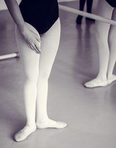 Ballet class. First position