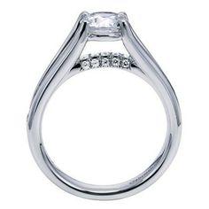 Modern Split Shank Floating Diamond Engagement Ring @ Wedding Day Diamonds
