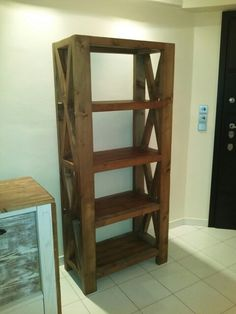 Rustic bookshelf by Beaver Home furniture.