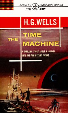 Richard M Powers cover for Berkley edition (1963) of The Time Machine by H. G. Wells