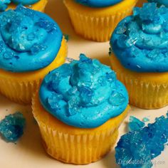 Breaking Bad Irresistible Blue Sky Cupakes DIY