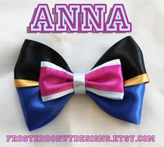 Anna from Frozen inspired Disney Bow by FrostedDonutDesigns, $9.00