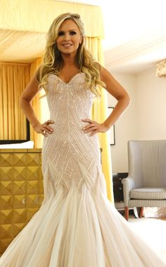 Tamra Judge's blush-colored wedding gown