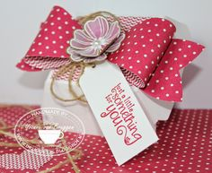 Yvonne's Stampin' & Scrap Blog: Stampin' Up! hamburger box and big bow