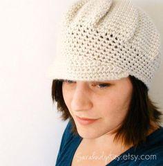 free crochet patterns for teens | CROCHET HAT NEWSBOY PATTERN - Crochet Club