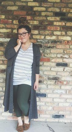 LuLaRoe Classic Tee, leggings, and Sarah Cardigan