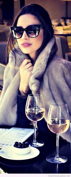 Lady like, coat and sunglasses