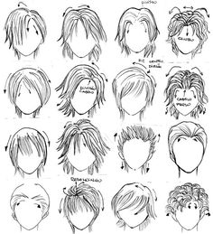 Hair styles by v-chan hi, for everybody,  there are many male hair styles for u use in your manga designs , i shared theses with my kohais on genshiken manga class group... this was produced by [url=http://vivith-chan.deviantart.com/][img]http://a.deviantart.net/avatars/v/i/vivith-chan.gif?1[/img][/url] (V-chan) if you want to visit my artworks please visit my gallery  and i took this from hanakimi dorama!!! Just a sample for averybody I love nakatsu kun^^ and namba sempai - mizushima hiro…