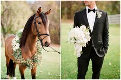 Equestrian garden shoot, horse inspired wedding, green wedding flowers, white wedding flowers