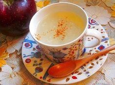 りんごジャムや蜂蜜、生姜使用のヘルシーな葛湯です、1杯、美味しく召し上がれば、冷えた体も温まります♪