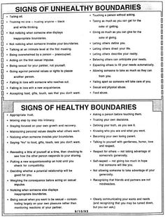 OT Mental Health Boundaries on Pinterest | Setting Boundaries ...