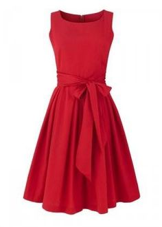 Classy Bow red dress that I would like to twirl around in while in a field of daisies with a really cute boy, because things with really cute boys are always better.