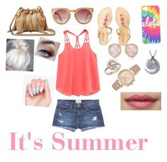 """""""It's Summer """" by jujubees51901 on Polyvore featuring Current/Elliott, Lilly Pulitzer, Diane Von Furstenberg, Monica Vinader, Bloomingdale's and Michael Kors"""