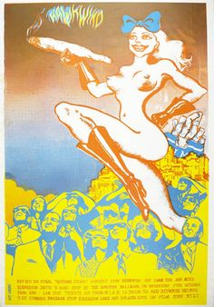 Original poster announcing Hawkwind in concert at the Dorothy Ballroom, Cambridge, October 27 1971, the ninth date of their 'In Search of Space' tour