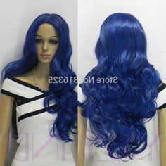 31.85$  Buy here - https://alitems.com/g/1e8d114494b01f4c715516525dc3e8/?i=5&ulp=https%3A%2F%2Fwww.aliexpress.com%2Fitem%2Fshun-FREE-P-P-women-ladies-long-wavy-curly-long-bangs-full-synthetic-cosplay-blue-hair%2F32763218890.html - shun FREE P&P>women ladies long wavy curly long bangs full synthetic cosplay blue hair wig 31.85$