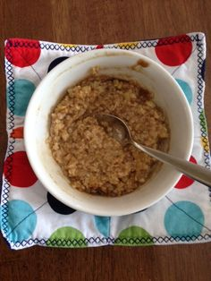 Julia S Microwave Bowl Holder Insulated And Easy To Grab Her Hot Oatmeal Or Soup