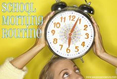 Back to School Routines for Kids & Mom.. This is filled with great tips for an organized and stress free morning.