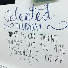 Talented Thursday
