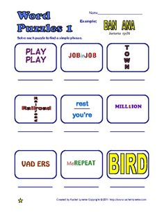 critical thinking problems for kids Rebus Puzzles, Logic Puzzles, Word Puzzles, Word Riddles, Picture Puzzles, Lateral Thinking Puzzles, Pen And Paper Games, Puzzle Frame, Brain Teaser Puzzles