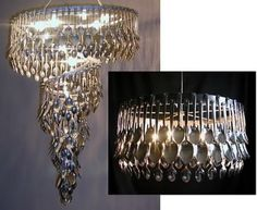 Upcycled Spoon Chandelier