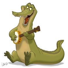 If there's one thing I know about gators, it's probably something I made up. I'm not much of a reader. #gator #banjo #banjoanimals