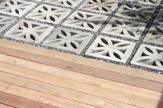 DIY re-purposed concrete blocks