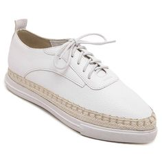 Preppy Style Weaving and Pointed Toe Design Women's Platform ShoesFlats | RoseGal.com