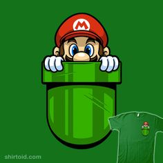 """Pocket Plumber"" by Harebrained Super Mario in your pocket Super Mario Bros, Super Mario Kunst, Mario Party, Mario Brothers, Video Game Art, Cartoon Art, Crossover, Pokemon, Geek Stuff"