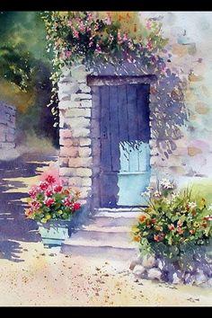 Resultado de imagen de como pintar ventanas con flores