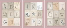Vintage Alphabet printable pink posters Click on the links and it should bring up a new window with the image. Right click on the image and save it to your desktop. These are high resolution JPGs and are perfect for printing 11×14 or even larger! http://howtonestforless.com/2013/08/14/nursery-alphabet-wall-art-free-printables/