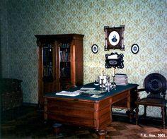 Fyodor Dostoevsky's desk in his apartment in Saint Petersburg, Russia