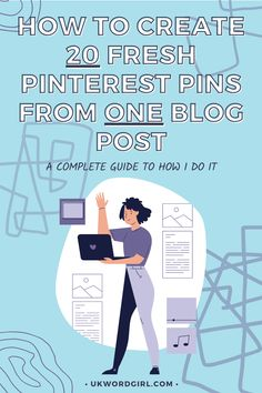 How to Create 20 Fresh Pinterest Pins From One Blog Post | UKWordGirl | #PinterestMarketingTips #Blogging101 | Pinterest For Bloggers | Get More Blog Readers | How to Grow Your Blog | Blogging Growth | Blog Coach | Digital Marketing | Pinterest Marketing Strategy Social Media Marketing, Digital Marketing, First Blog Post, Pinterest Pin, Pinterest Marketing, Blogging, Fresh, Memes, Create