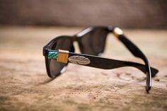 Golden Feather Wayfarer Sunglasses on BourbonandBoots.com