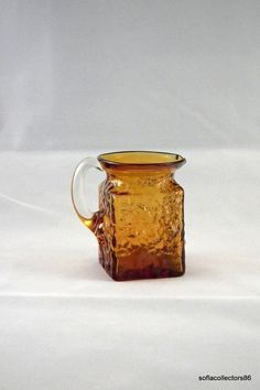 Pilgrim 888 Amber Rock Crystal Pitcher by soflacollectors86, $19.00