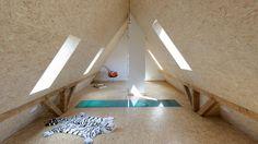 Stair Case Study House 06, Gerd Streng Architekt, Blick in den Spitzboden