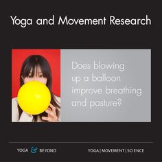 Breathing is a hot topic for yoga teachers and fitness professionals. Jenn Pilotti and I talk about a study on the 90/90 breath technique with ball and balloon. Postural Restoration Institute (PRI) practitioners use this exercise to help people of all age