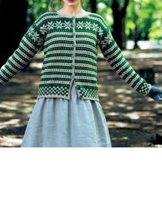 グリーン系カーディガン Yarn Thread, Fair Isle Knitting, Drops Design, Baby Sweaters, Bunt, Knits, Knitting Patterns, Knit Crochet, Textiles
