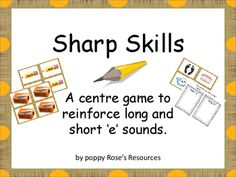 Short and Long e Sounds Sharp Skills Sorting Games, Recording Sheets, Task Cards, Teaching Resources, Curriculum, Students, Language, Products, Resume
