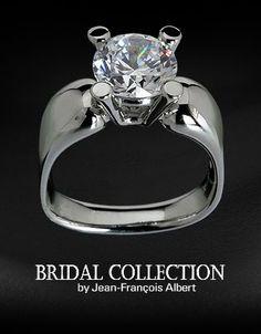 ba28decf6 JFAD Jean-Francois Albert Designs available through Silverscape Designs.  Beautiful Engagement Rings, Blessed