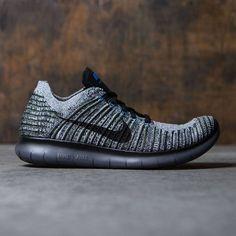 100% authentic 2ce7d 9b7b4 Nike Men Free Rn Flyknit Running (cargo khaki   black-blue glow-dark grey)