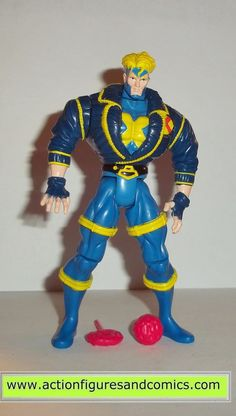 Toy Biz action figures for sale to buy: X-MEN / X-FORCE animated series 1996 HAVOK (x-factor team leader) 100% COMPLETE Condition: Overall excellent. displayed only Figure size: approx. 5 inch -------