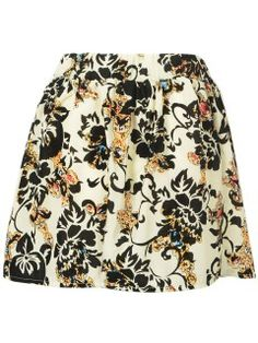 Shop Choies White Floral Skater Skirt from choies.com .Free shipping Worldwide.$3.99