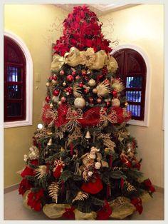 arboles-de-navidad-rojo-y-dorado