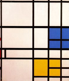 """Composition N. 11 London with Blue, Red and Yellow"" - Piet Mondrian"