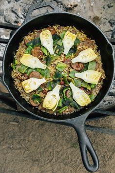 Vegetarian Campfire Paella Recipe