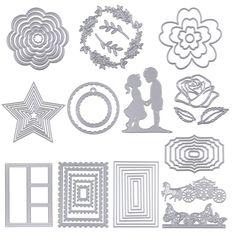 8pcs Flower Set Metal Cutting Dies For DIY Scrapbooking Album Paper Cards XS