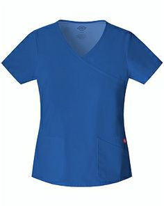 Dickies Soft Works 82817 Mock Wrap Top - Medical Discount Scrubs