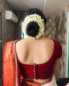 Latest Saree Blouse Back Neck Designs - Sexy Low Back blouse Designs For Indian Women - Outfits HuntersTrendy and Stylish blouse back neck designs Sarees are a go to attire for every Indian woman.Blouse d esign s Indian Blouse Designs, Blouse Back Neck Designs, Kerala Saree Blouse Designs, Simple Blouse Designs, Stylish Blouse Design, Bridal Blouse Designs, Latest Blouse Designs, Design Of Blouse, Simple Blouse Pattern